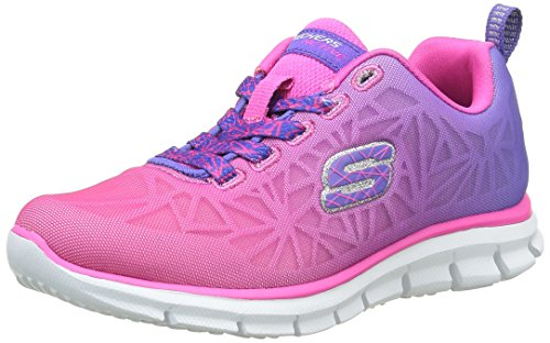Skechers Kids Glider-Fearless Athletic Sneaker (Little Kid/Big Kid) Purple/Hot Pink