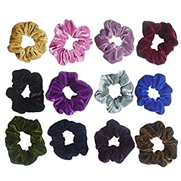 10-100pcs Hair Scrunchies Velvet Elastic Hair Bands Scrunchy Hair Ties Ropes US