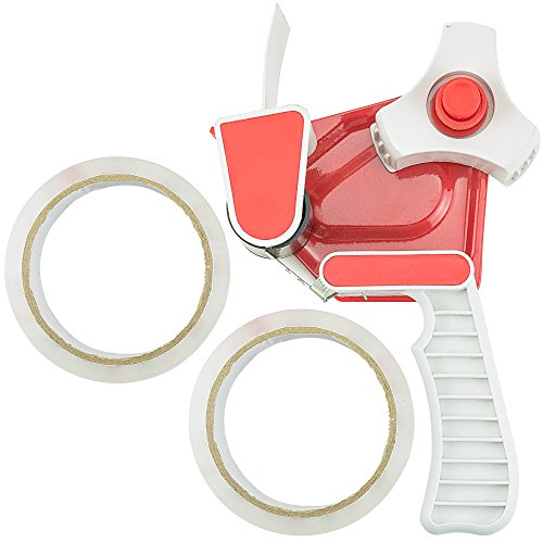 SteadMax Packing Tape Dispenser Gun with 2 Rolls of Clear He