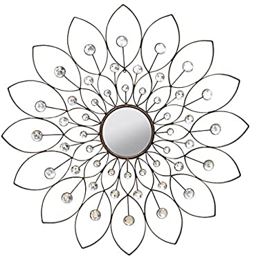 Stratton Home Decor SHD0010 Decorative Flower Mirror