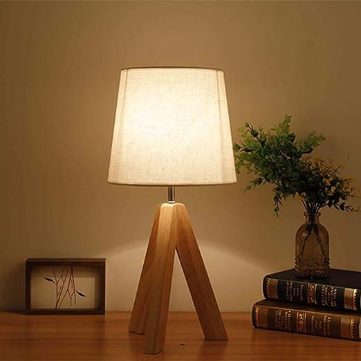 HEFEI Lámpara de Mesa Dormitorio Personalidad mesita de Noche ...