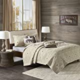 Adirondack 6 Piece Herringbone Coverlet Set Khaki King/Cal King