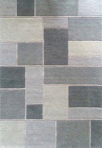 Mondrian alfombra, lana, Gris, 1.20 x 1.80 m: Amazon.es: Hogar