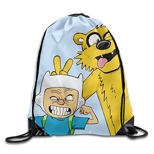 [Momini Calvin Time Gym Drawstring Backpack Sport Bag] (Hobbes Costumes For Sale)