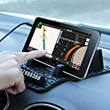 Glumes Non-Slip Mounting Pad, Temporary Parking Card, Dashboard skid proof holder, For Huawei Nexus LG Apple iPhone X/Plus/6S Plus/Galaxy S9/S9+/S8/S8+/S7 Edge/S7,Sunglasses, Keys (black)