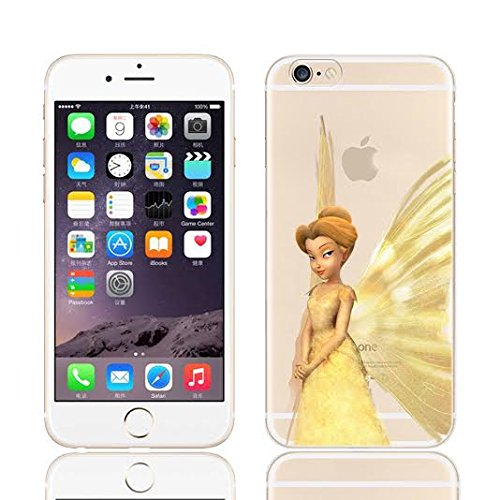 DISNEY TINKERBELL & FAIRY FRIENDS CLEAR TPU SOFT CASE FOR APPLE IPHONE 7 QUEEN CLARION