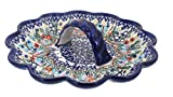 Polish Pottery Garden of Eden Egg Plate
