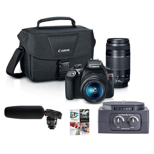Canon EOS Rebel T6 DSLR with EF-S 18-55mm f/3.5-5.6 IS II an