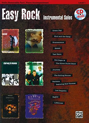 Easy Rock Instrumental Solos for Strings, Level 1: Violin (Book & CD) (Easy Instrumental (Instrumental Solo Easy Violin)