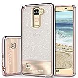 Phone Case for LG Stylo 2 Plus, LG Stylus 2 Case, LG Stylo 2 Case, BENTOBEN Shockproof Ultra Slim Dual Layer Hybrid Bling Glitter Case Cover for LG Stylo 2 Plus / LG Stylo 2 / Stylo 2V Cute Rose Gold