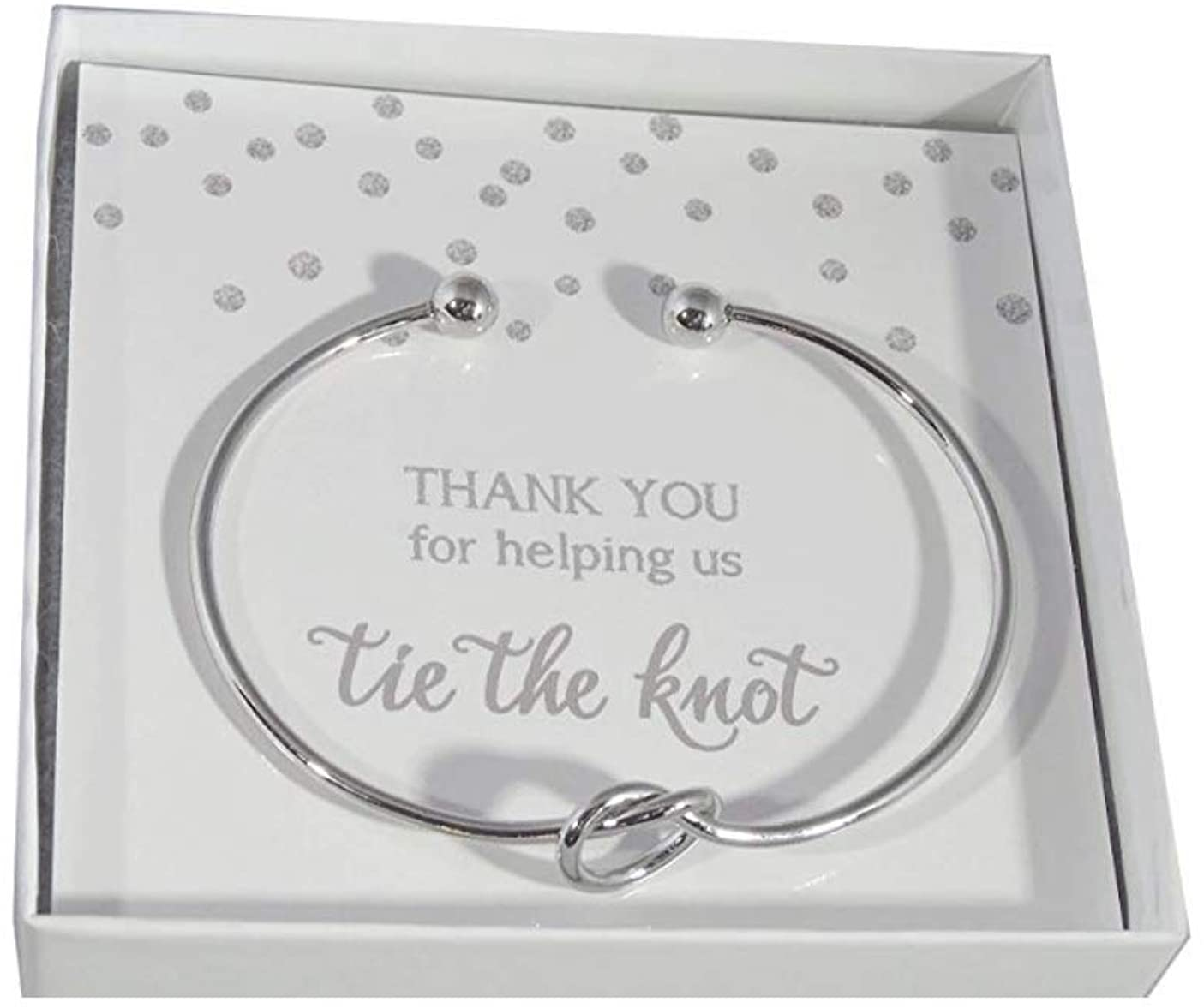 Set of 4,5,6 I Cant Tie The Knot Without You Bridesmaid Gift Cards Bridesmaid Bracelets Silver Tone