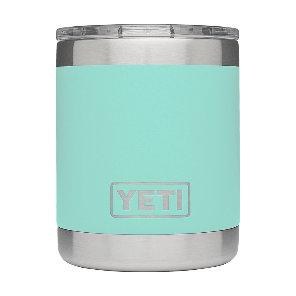 YETI Rambler 10oz Vacuum Insulated Stainless Steel Lowball with Lid, Seafoam DuraCoat