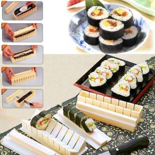10PCS Sushi Maker Kit Rice Roll Mold Kitchen DIY Easy Chef Set Mould Roller - Photo Heart Shape In Cut Online
