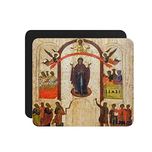 Antique Russian Orthodox Icon Computer Laptop Mouse Pad