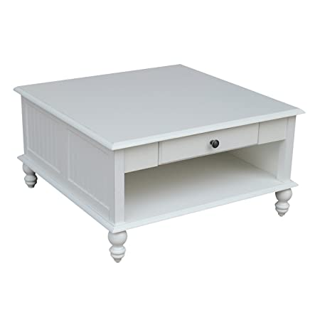 International Concepts OT07-20SC Cottage Coffee Table Beach White