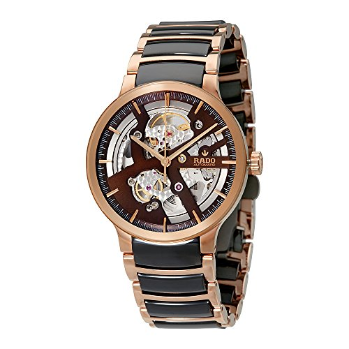 Rado-Centrix-Brown-Automatic-Skeleton-Dial-Mens-Watch-R30181312
