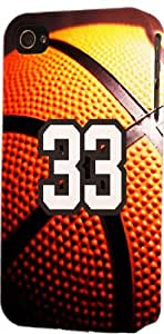 Basketball Sports Fan Player Number 33 Plastic Snap On Decorative iPhone 6 Case