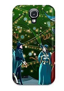 New USjnPoL1868wylOm Christmas4 Skin Case Cover Shatterproof Case For Galaxy S4