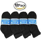 Falari 12-Pack Diabetic Socks Ankle Unisex Physicians Approved Socks