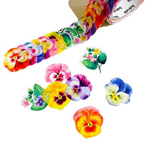 - Bande Masking Roll Sticker Masking Tape Pansy for Scrapbooking DIY (BDA205)