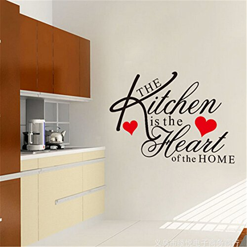 TraveT Kitchen Heart Stickers Removable