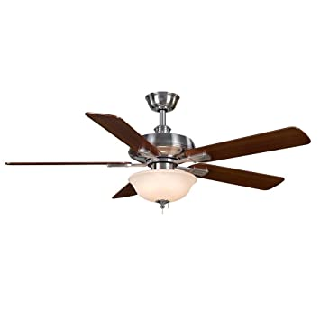 Amazon hampton bay larson 52 in brushed nickel ceiling fan hampton bay larson 52 in brushed nickel ceiling fan by hampton bay mozeypictures Images