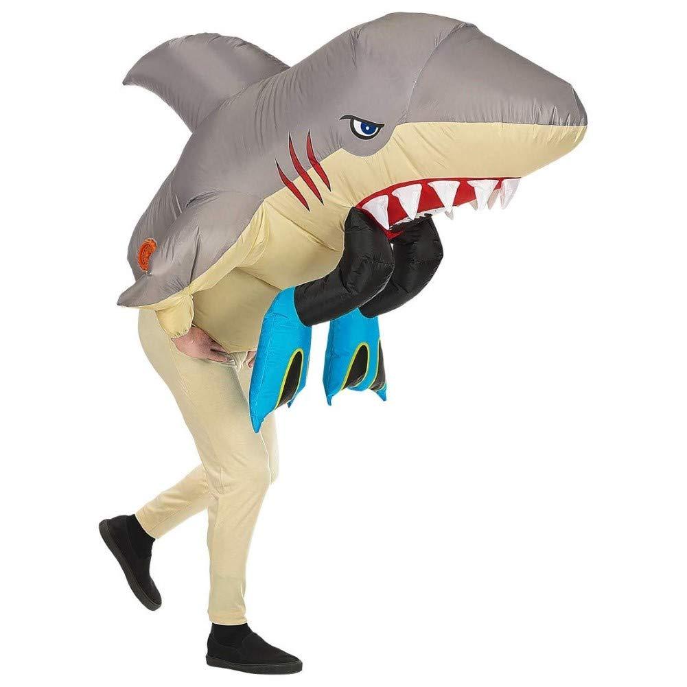 WIDMANN Srl disfraz de Tiburón hinchable para adulto, Multicolor, wdm75512