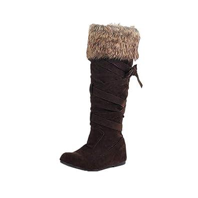 Preis vergleichen San Francisco zu verkaufen JOYTO Winterstiefel Halbschaft Stiefel Damen Keilabsatz ...