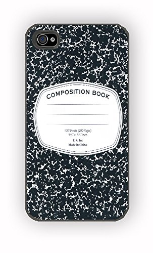 Composition Book Notepad Notes School for iPhone 4/4S Case