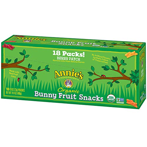 Fruit Natural Snacks All (Annie's Organic Bunny Fruit Snacks, Berry Patch, 18 Pouches, 0.8 oz)