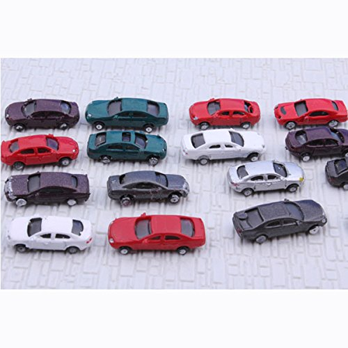 Z Gauge 1:200 Scale Painted Model Cars for Parking Scenery Train Layout Diorama (Pack of 100)