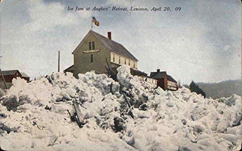 Ice jam at Anglers Retreat Lewiston, New York Original Vintage (Angler Ice)
