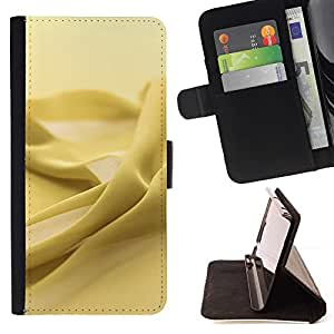 Momo Phone Case / Flip Funda de Cuero Case Cover - Amarillo textura de la tela - LG G4