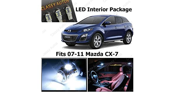 Classy Autos White LED Lights Interior Package Deal Mazda CX-7 (6 Pieces): Amazon.es: Coche y moto