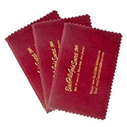 Silver Cleaning Cloth for Jewelry, Coins and Other Valuables - 3 pack - Four Section 4\