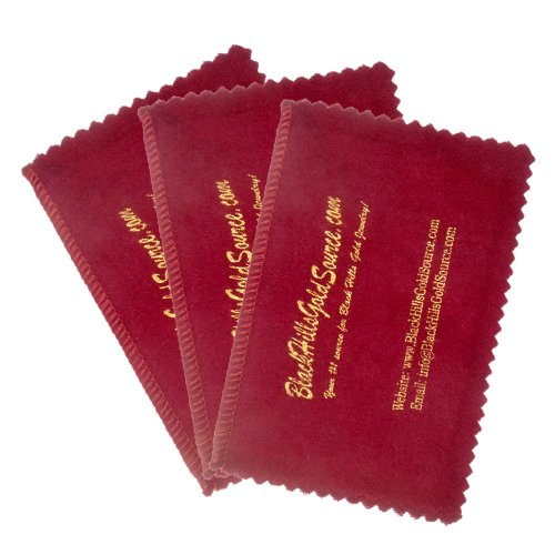 Silver Cleaning Cloth - SET OF 3 - for Jewelry, Coins and Other Valuables, Four Section 4