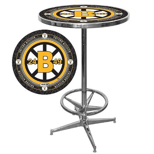 NHL Boston Bruins Chrome Pub Table
