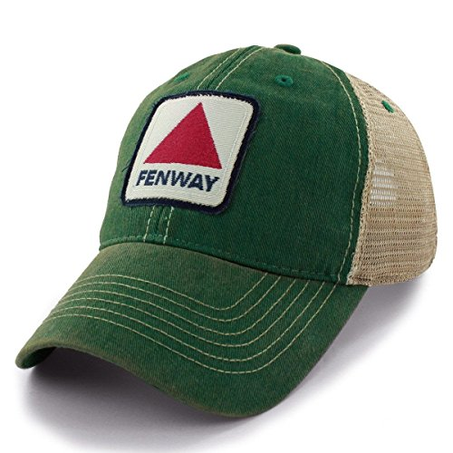 Chowdaheadz Fenway Patch Dirty Water Mesh Trucker Green Hat (Trucker Green)