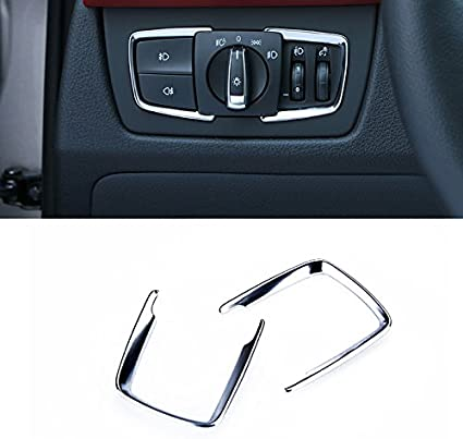 For BMW 1 Series F20 2012-2017 ABS Interior Head Light Switch Button Cover Trim