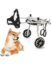Adjustable Dog Wheelchair, Aluminium Disabled Dog Assisted Walk Car Dog Cat Cart Wheels for Hind Legs Rehabilitation Pet Carts