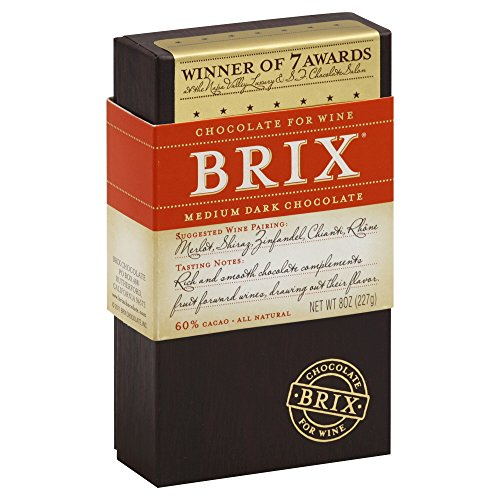 Brix Chocolate Bar for Wine, Medium Dark 8.0 OZ (Pack of (Shiraz Wine Food)