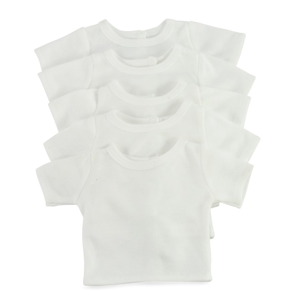 18 Inch Doll Clothes/Clothing Fits 18' American Girl Dolls - Value Pack Plain White T-Shirts 18' Outfit I Gift-Boxed!