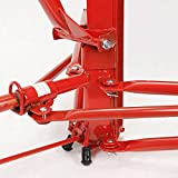 Heavy-Duty-Drywall-Panel-Lift-Hoist-Professional-Red-11Ft-Jack-Caster-Lockable-Tool