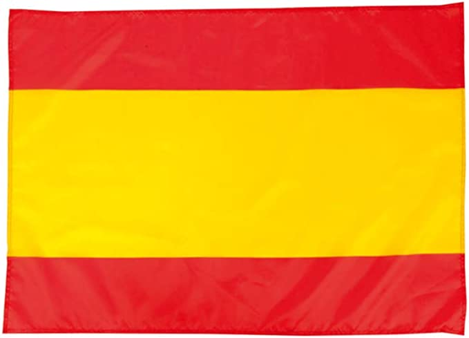 Clapper Bandera de España Balcon y Ventana 100x70cm Suave y Resistente poliéster con Cintas de Ajuste.: Amazon.es: Hogar