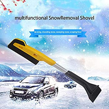 Scratch-Free Snow Brush Multifunctional Snow Removal Shovel Car Glass Scraping Brush Ice Scraper for Car with EVA Cotton Foam Grip