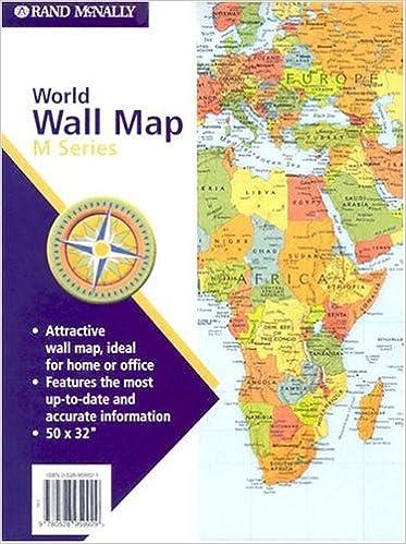 World Wall Map M Series World Wall Maps Rand McNally - Amazon maps