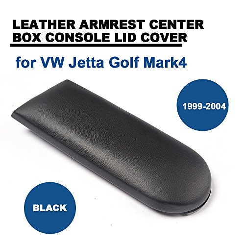Leather Auto Console Central Armrest Lid for for VW Jetta Golf Mark4 1999-2004 TGFOF Box Cover - Leather Central