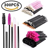 Disposable Makeup Applicator Mascara Wands & Lipstick Applicators & Eyeliner Brush 300PCS Daily Makeup Brushes Sets Kits 6 Styles