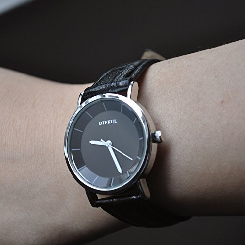 Womens-Casual-Watches-DIFFUL-Women-Ladies-Dress-Wristwatch-Simple-Round-Quartz-Retro-Waterproof-Black