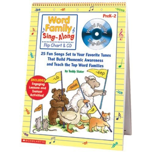 Word Family Sing-Along Flip Chart & CD by Scholastic